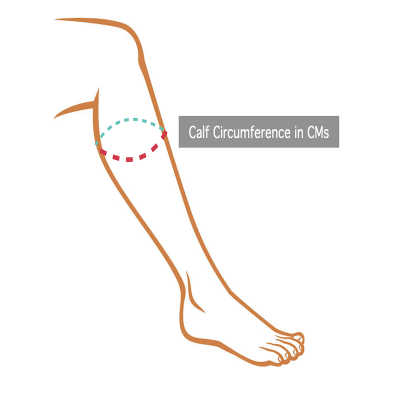 Calf Support Sizing Instructions