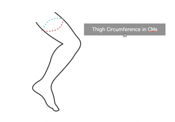 Thigh Support Sizing Instructions